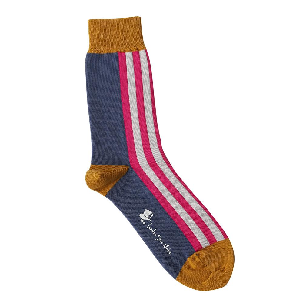 【プレゼントに♪】London Shoe Make THE SOCKS| No,417901 近衛兵/Guardsman 日本製 メンズソックス・ピンク