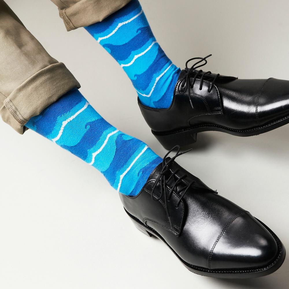 【30%OFF】London Shoe Make THE SOCKS| No,118904 船乗り/ Sailor 日本製 メンズソックス・ブルー 【返品・交換不可】