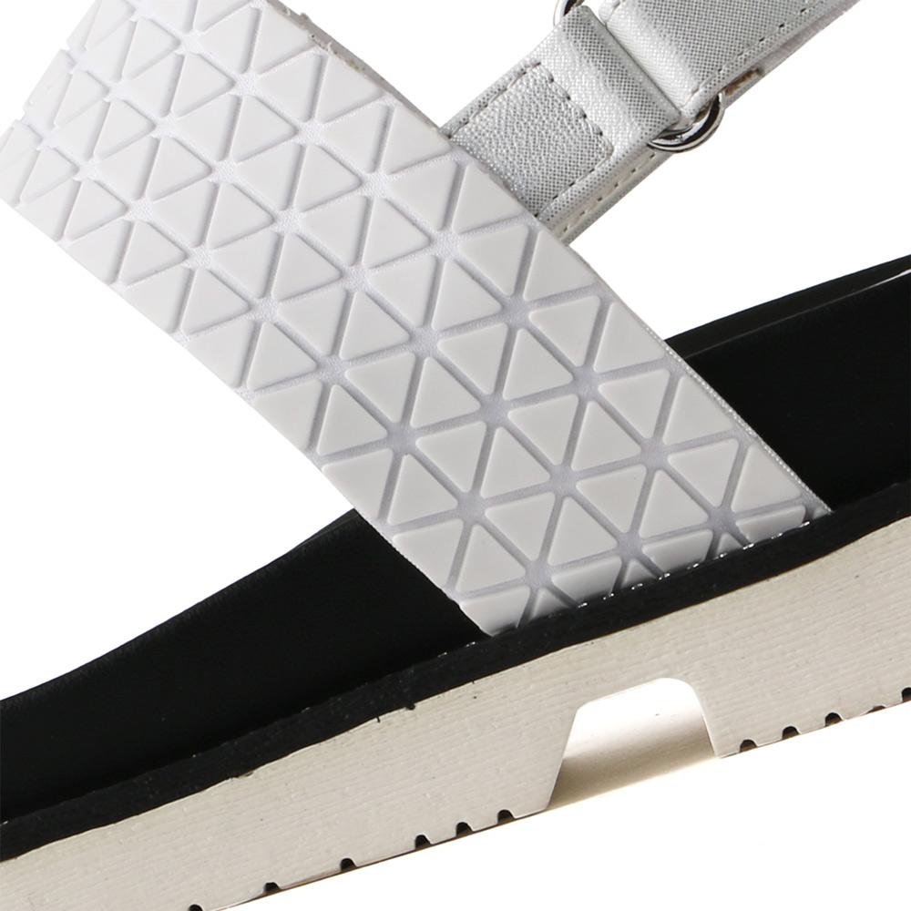 <120010-2011> coca / コカ 異素材MIX ダブルベルト 厚底 スポーツサンダル ホワイト