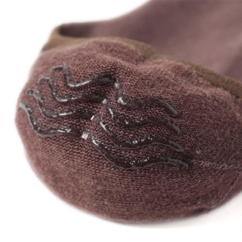 【30%OFF】London Shoe Make THE SOCKS| No,118905 数学者/Mathmatician 滑り止め付き メンズカバーソックス ブラウン 日本製 【返品・交換不可】【メール便送料無料】