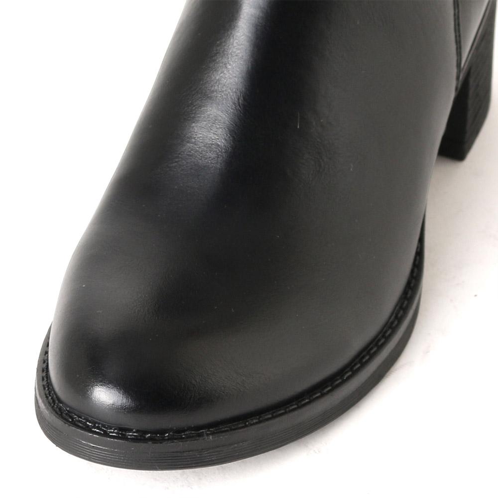<419702-1921> coca porta / コカポルタ ベルト付き ショートブーツ ブラック