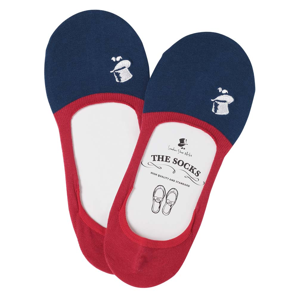 【30%OFF】London Shoe Make THE SOCKS  No,118906 愛好家/ Lover 滑り止め付き メンズカバーソックス レッド 日本製 【返品・交換不可】【メール便送料無料】
