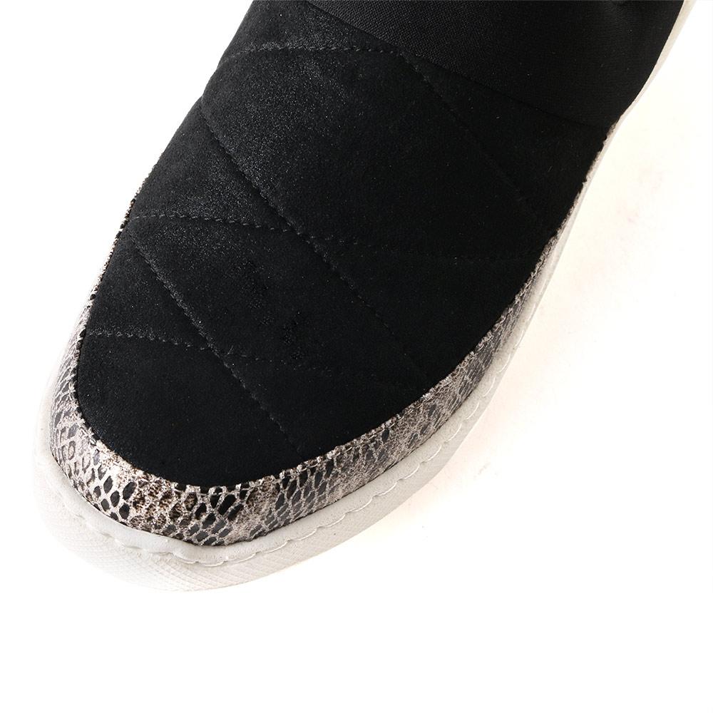 <121039-2111> coca / コカ BMZ高機能インソール付き ふわっと軽い ボンディング 厚底ソール  軽量スニーカー ブラックコンビ