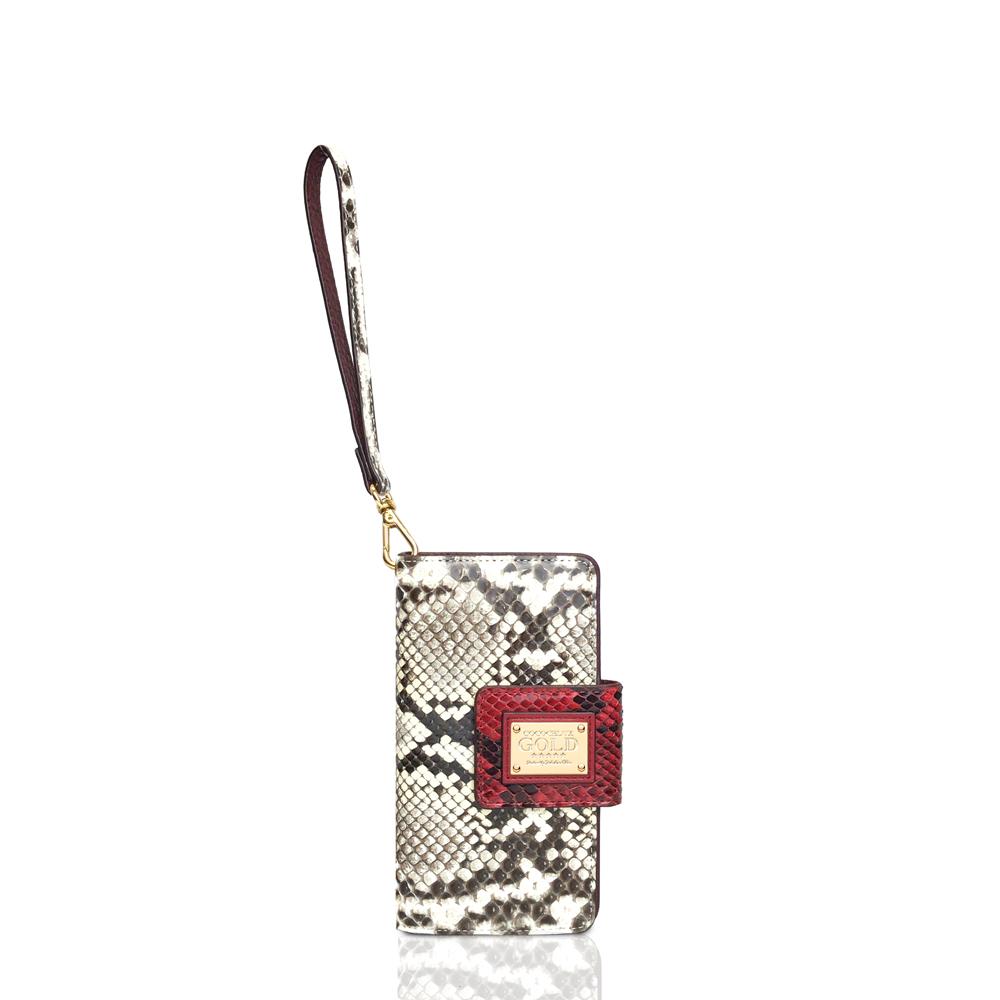 COCOCELUX GOLD カラベル社製シャイニングパイソン スマートフォンケース S