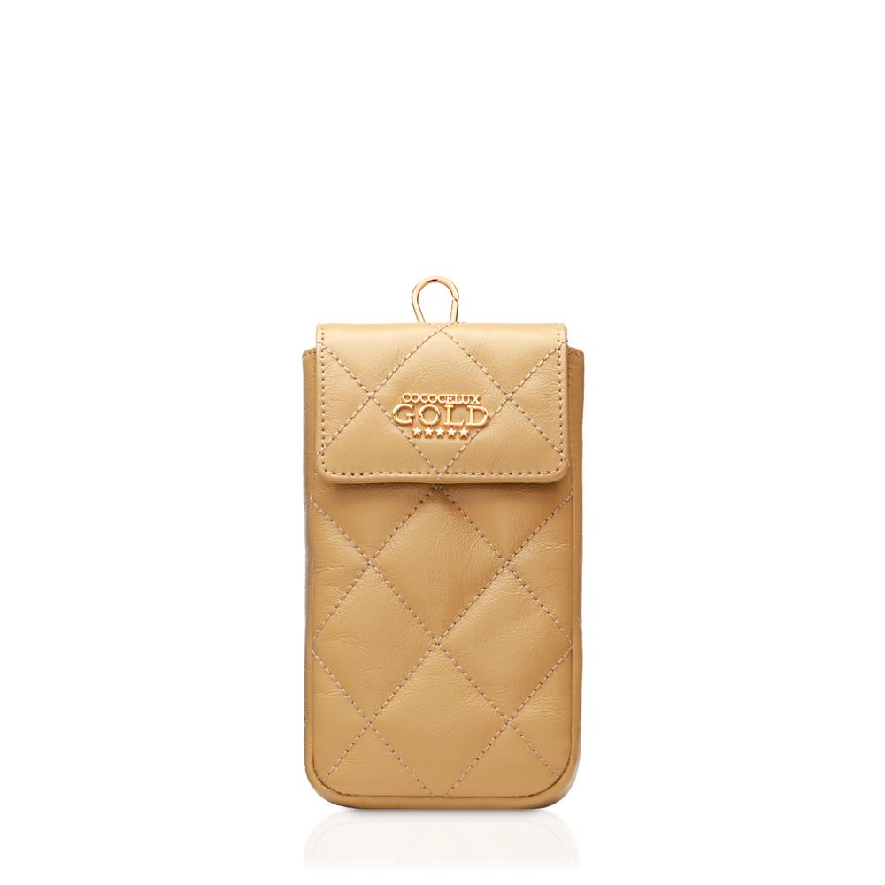 COCOCELUX GOLD ダイヤモンドレザー ボストン3WAYバッグ スマホケース付き【特別セット】