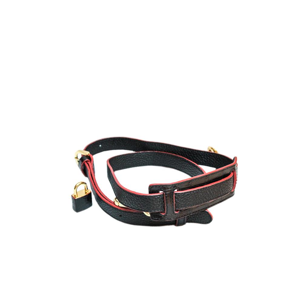 COCOCELUX GOLD マットクロコダイル ベルトデザイン2WAYバッグ M