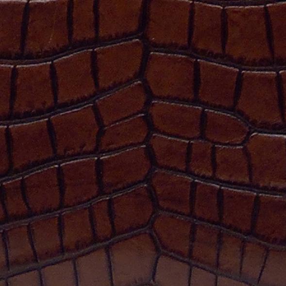 COCOCELUX GOLD  サマンタ社製牛革クロコ型押L字ロングファスナーウォレット