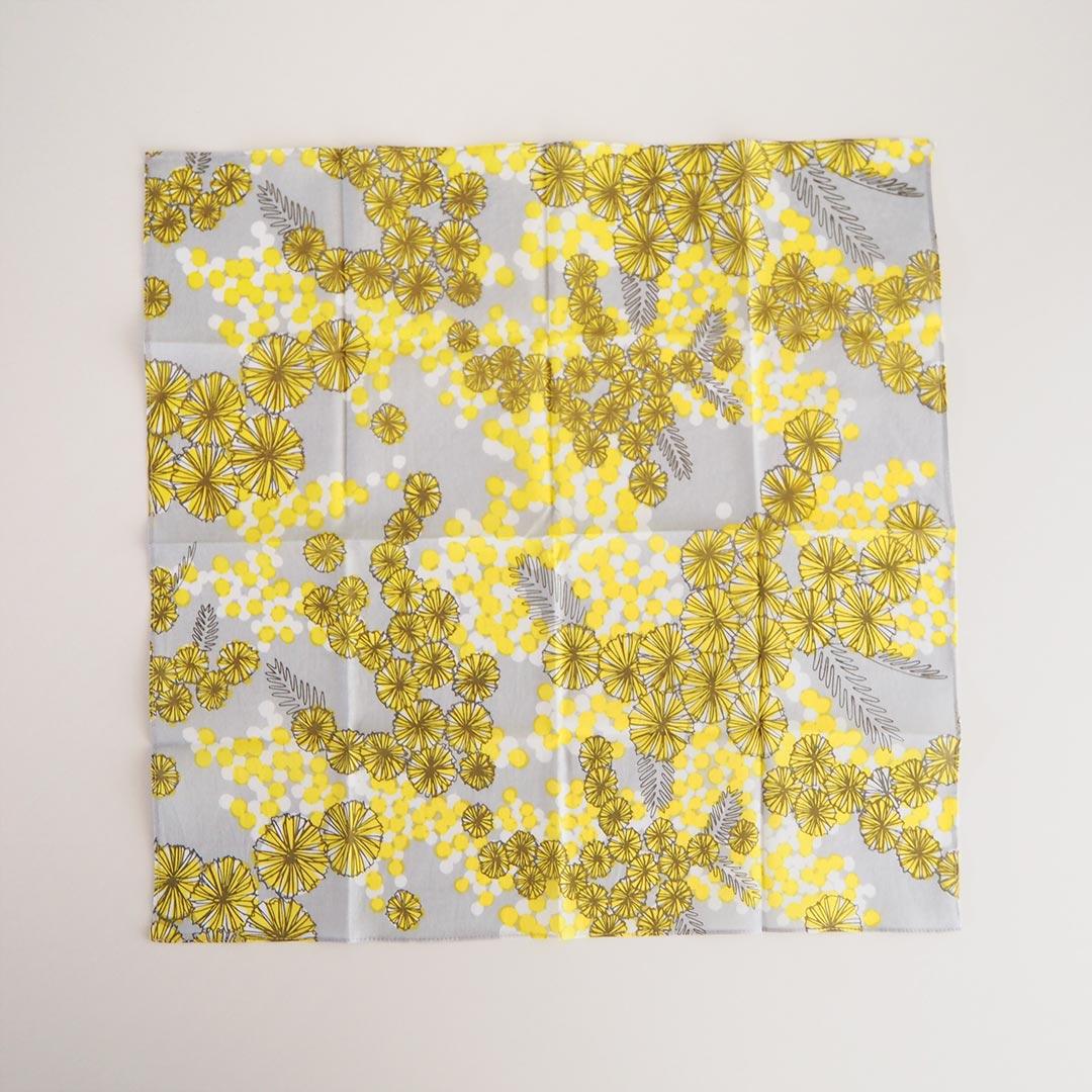 ハンカチ/ミモザ/黄色