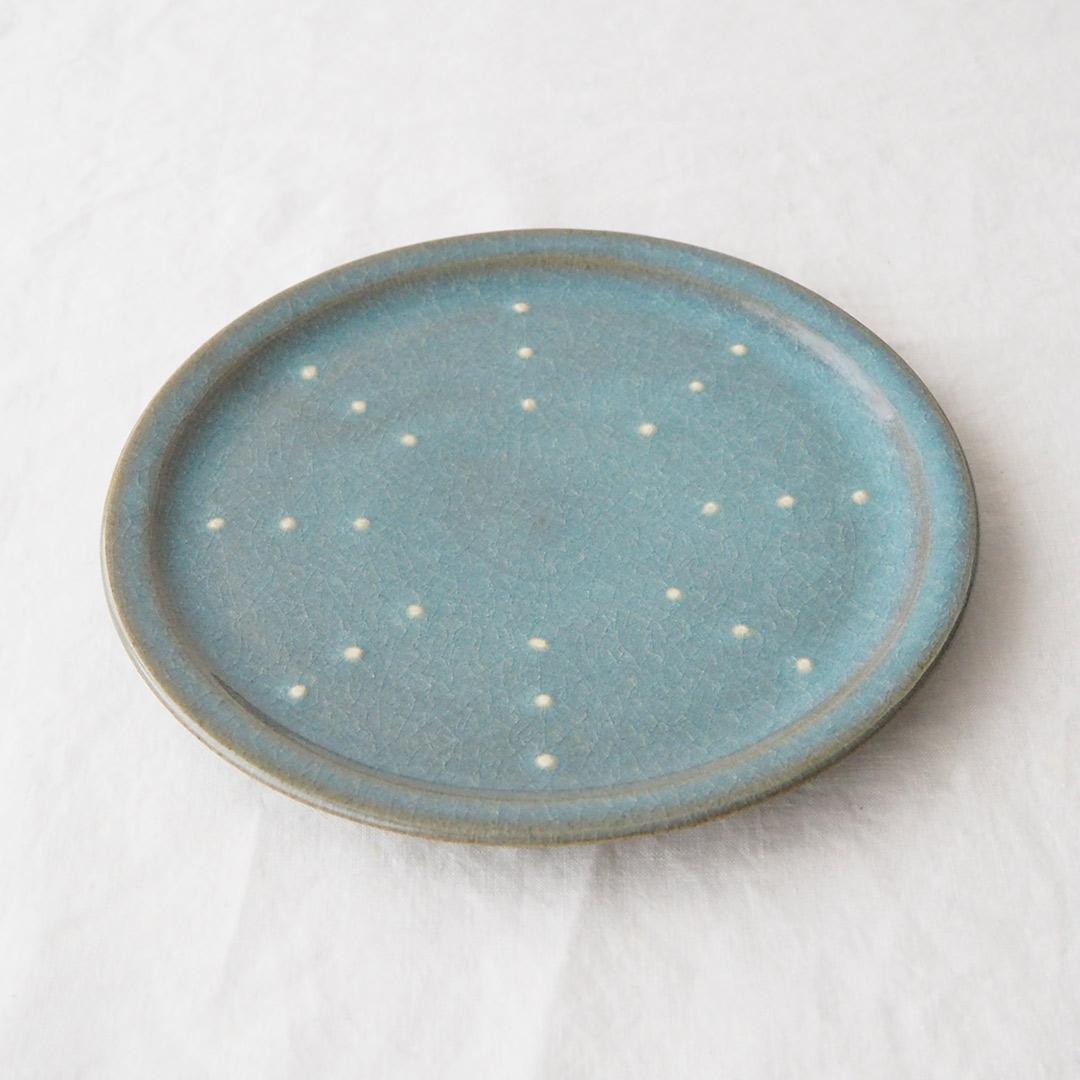 青磁水玉/7寸プレート皿
