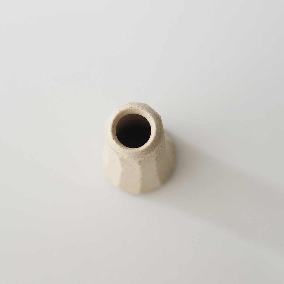 小型一輪挿し/面取り/白/ロング