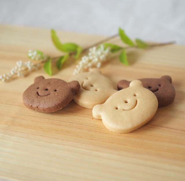 くまクッキー(メープル&ココア)