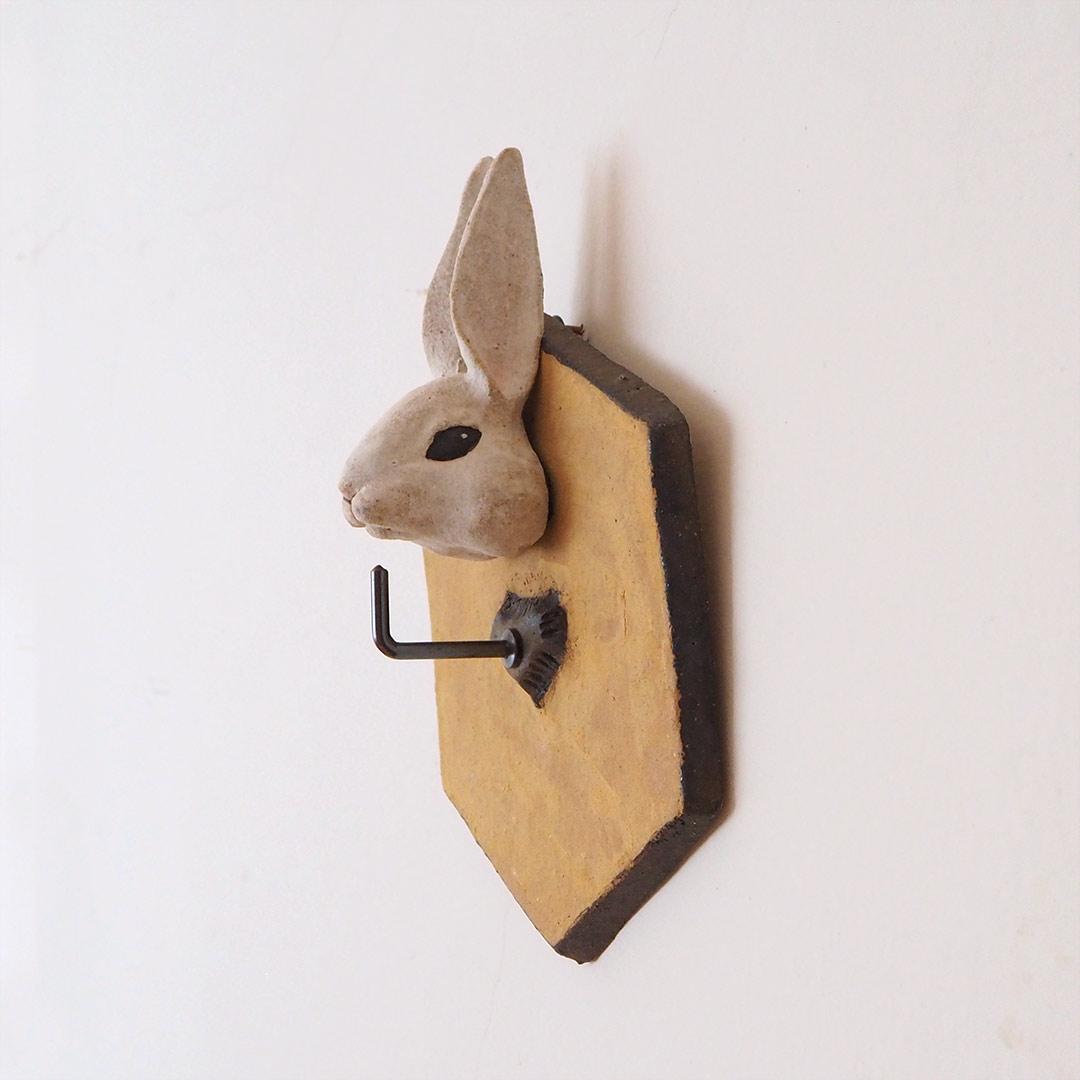 うさぎの壁掛けキーフック
