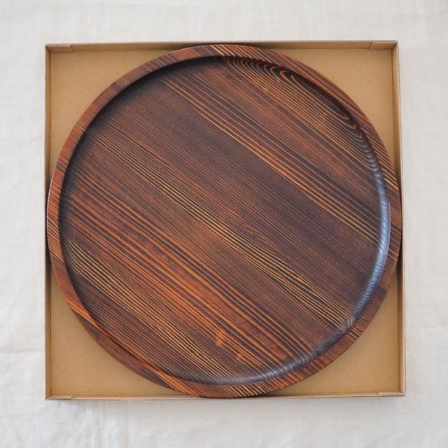 うるしの丸盆(36cm)のギフト