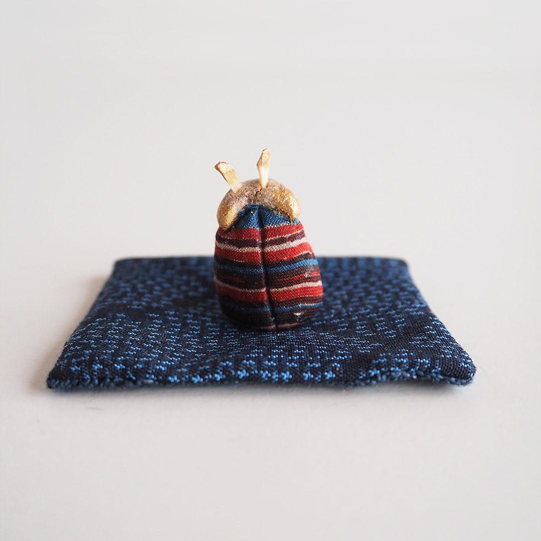 木目込みの干支飾り/うし/お土産つき