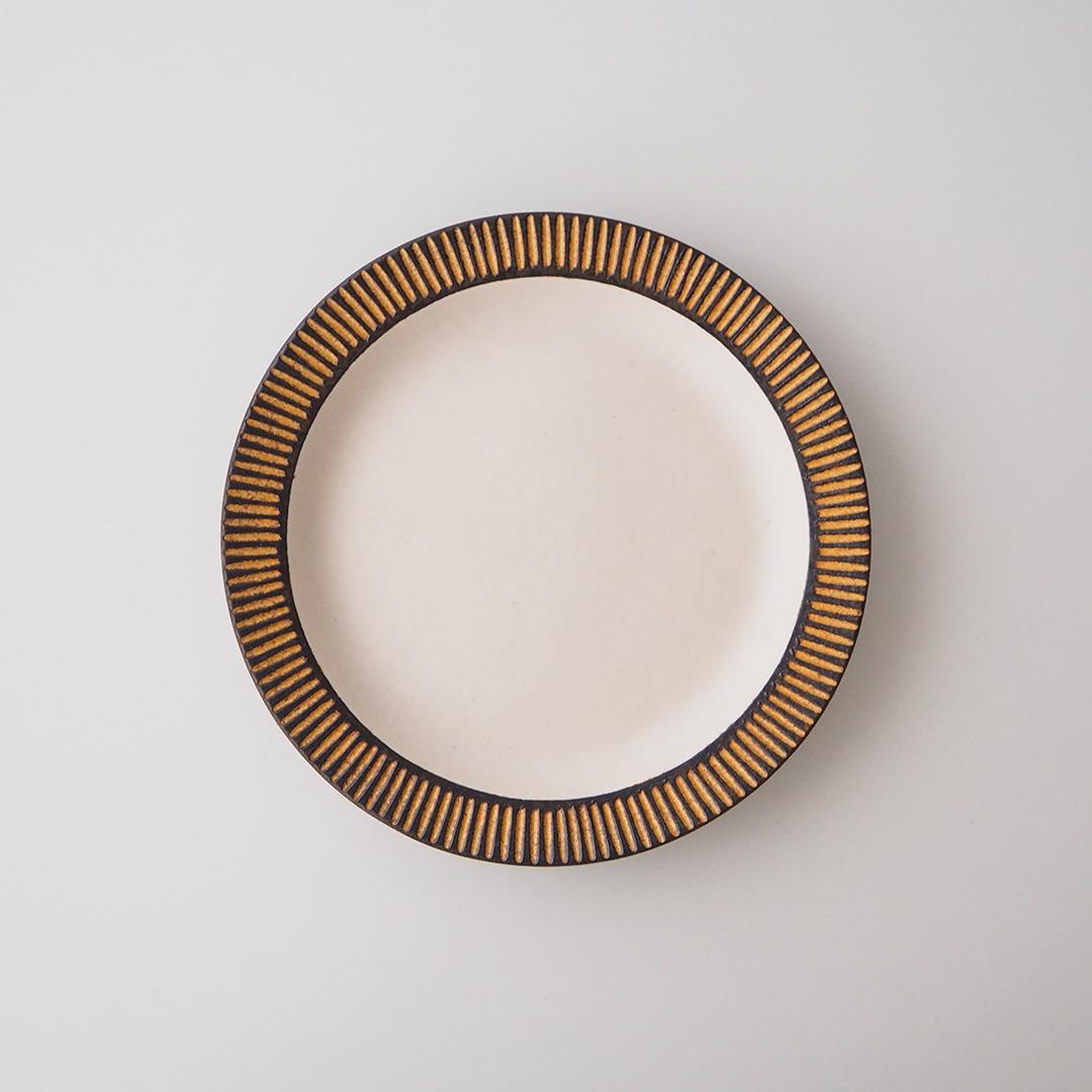 鉄彩/リム丸皿/18cm