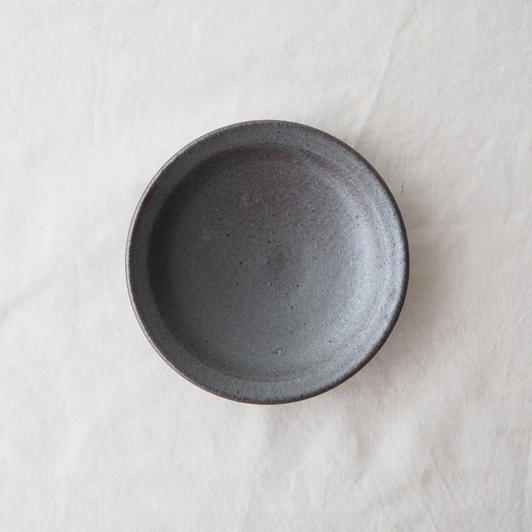 鉄灰釉/取り皿