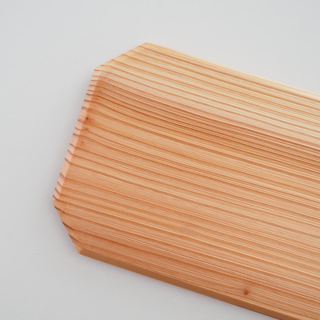 杉浮造り板皿