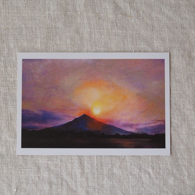 ポストカード/糸島富士に沈む夕日