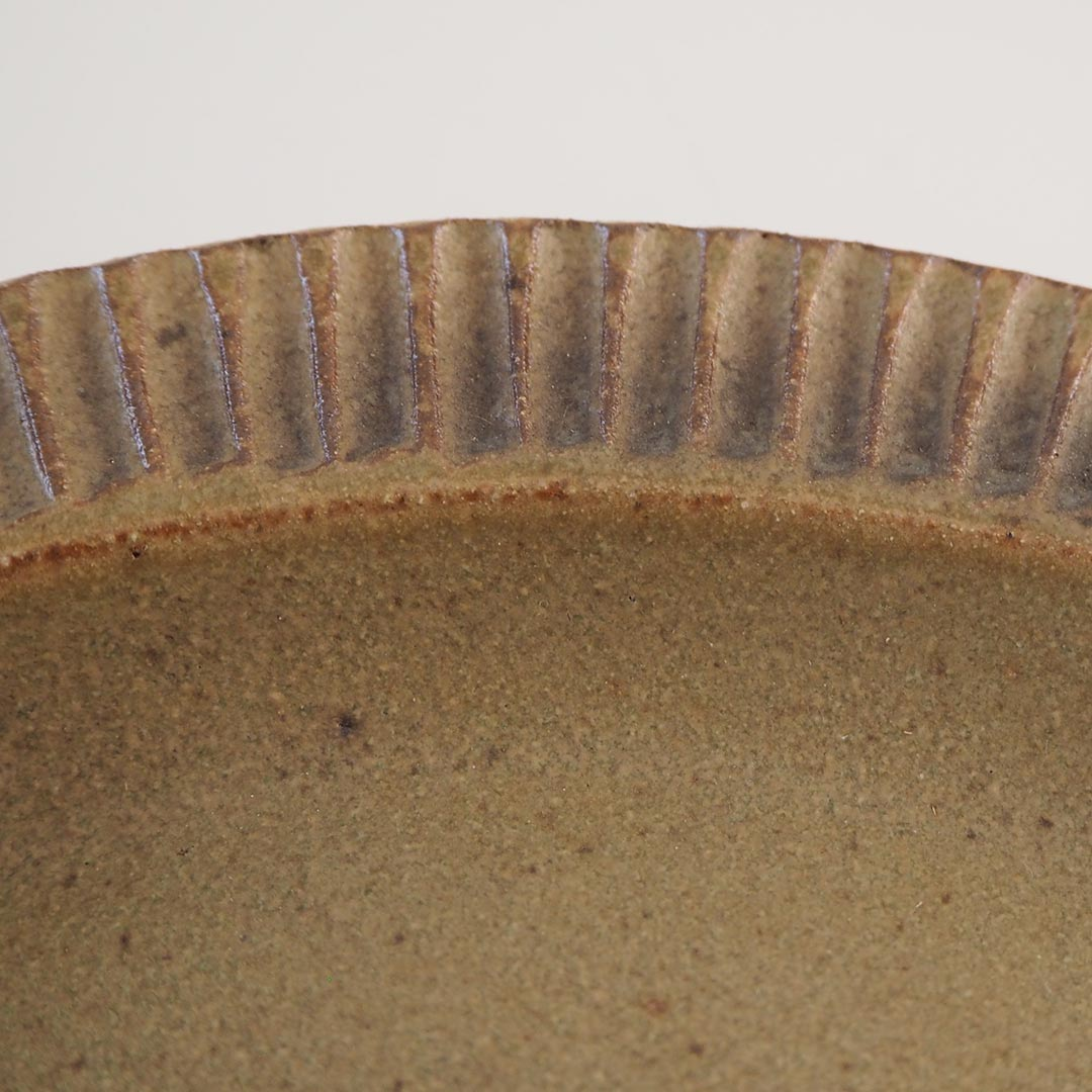 オリーブ/リム楕円皿/20cm