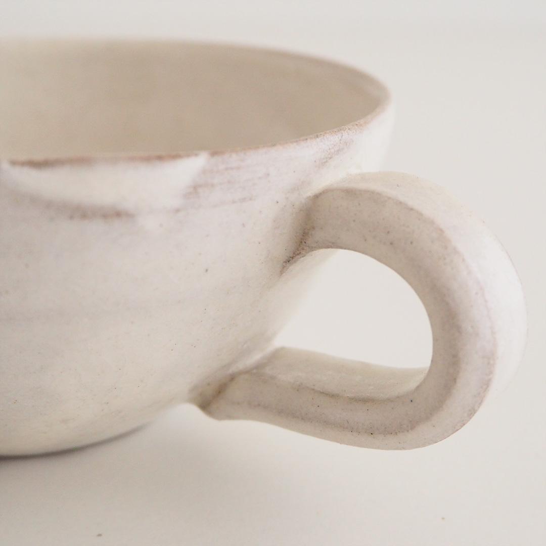粉引/スープカップ