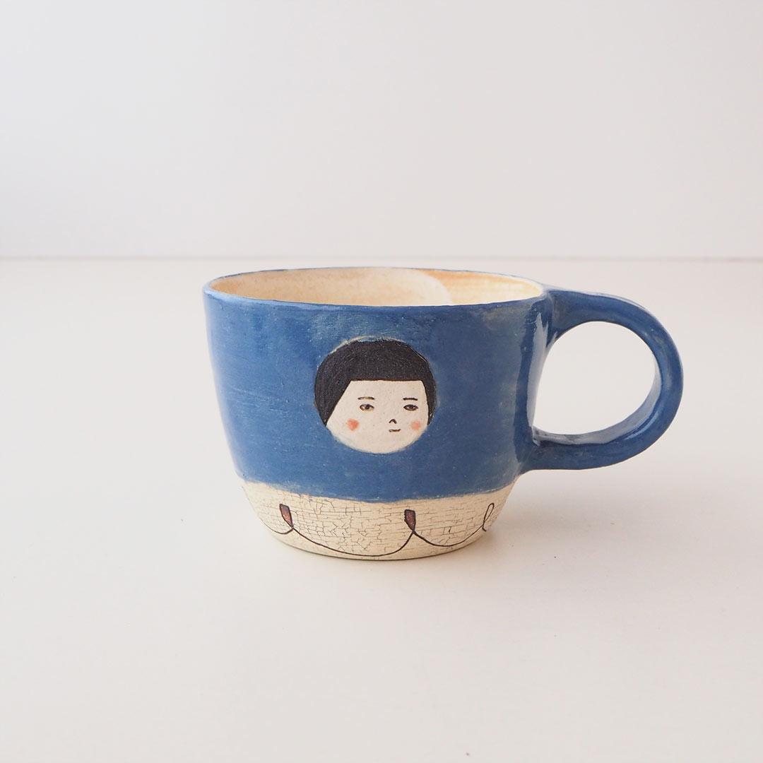 マグカップ/おかっぱ少女