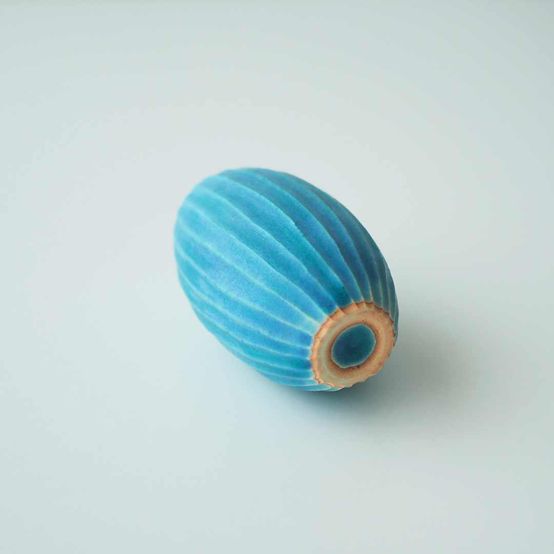 一輪挿し/しのぎ/Pure blue