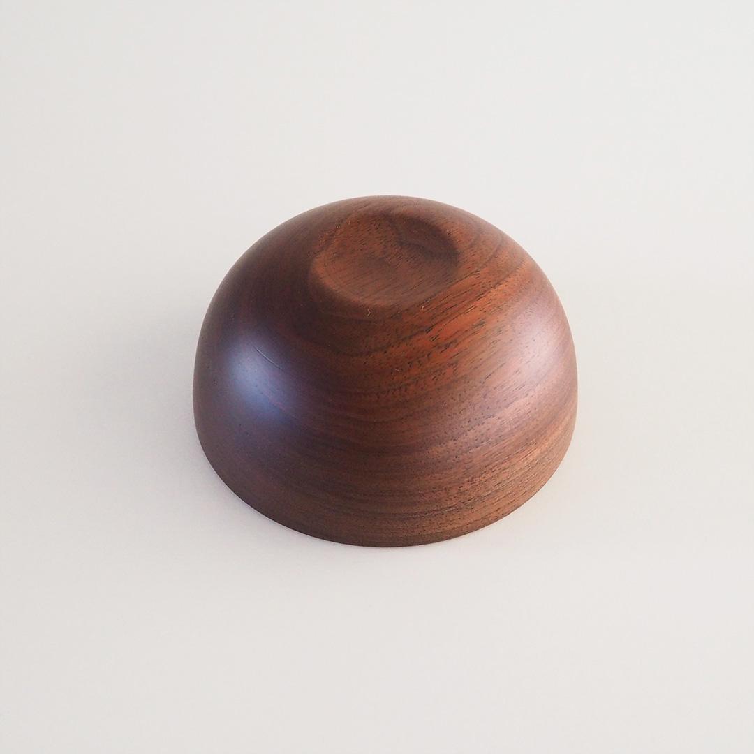木のナッツボウル/深型/ウォルナット