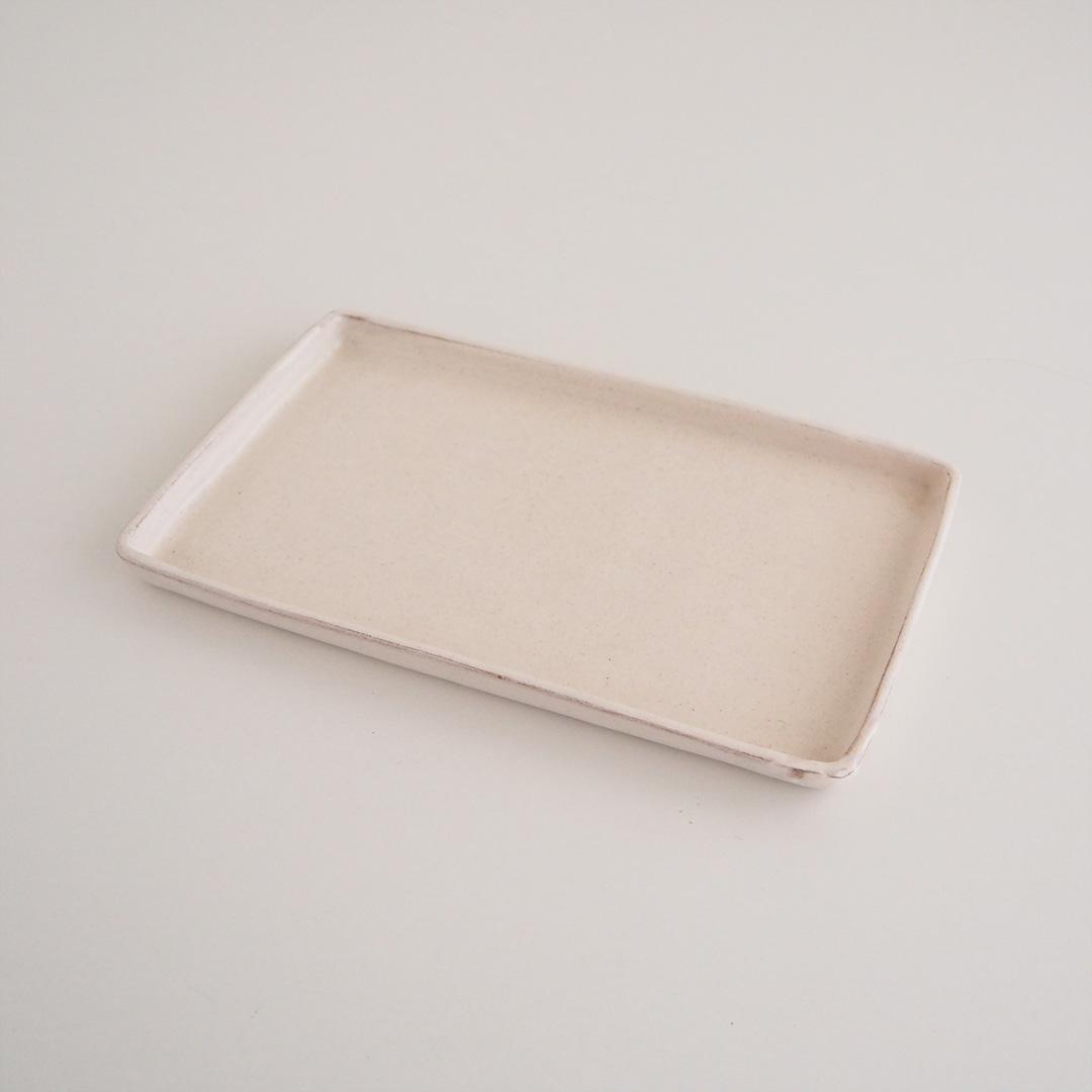 粉引/長角皿