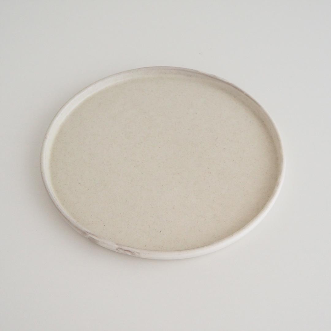 粉引/丸板皿