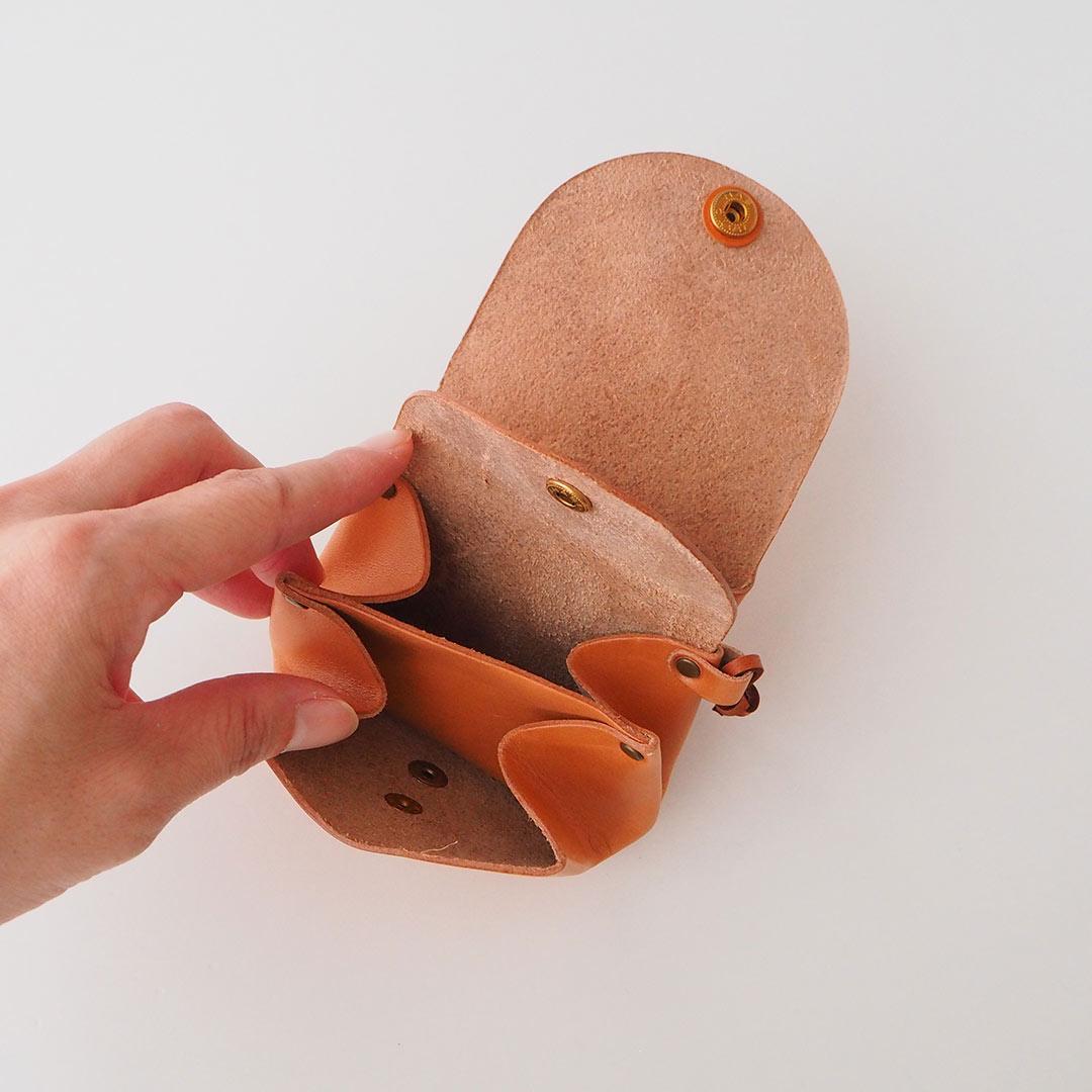 革製コイン&カードケース