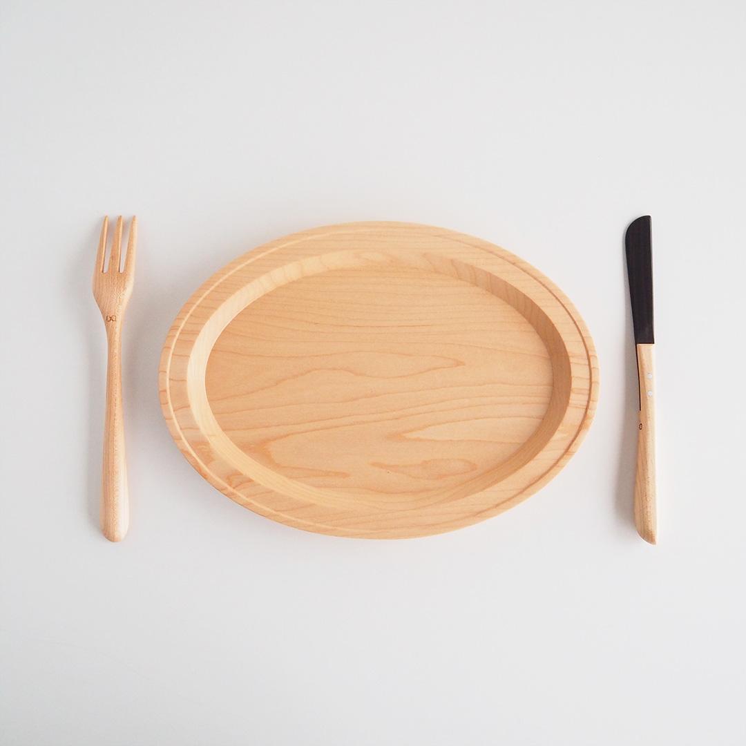 パンケーキナイフ/メープル×縞黒檀