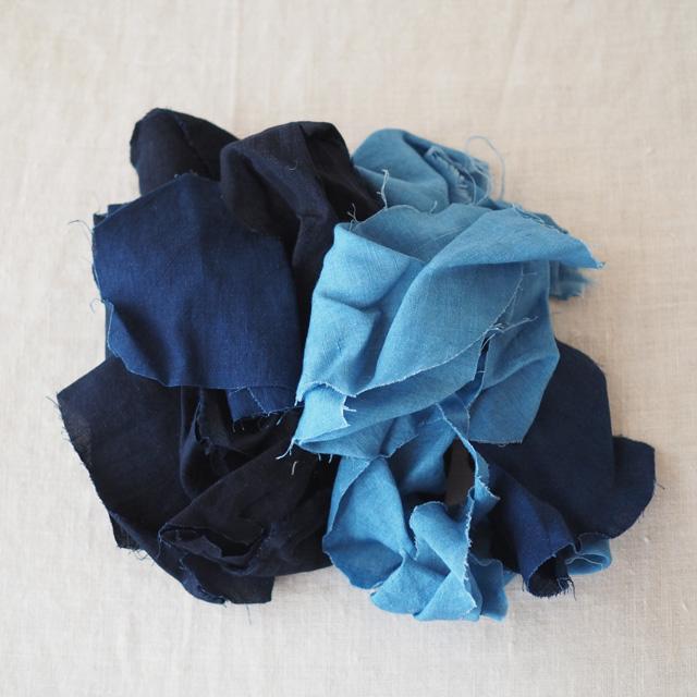 ハギレ/藍染麻布