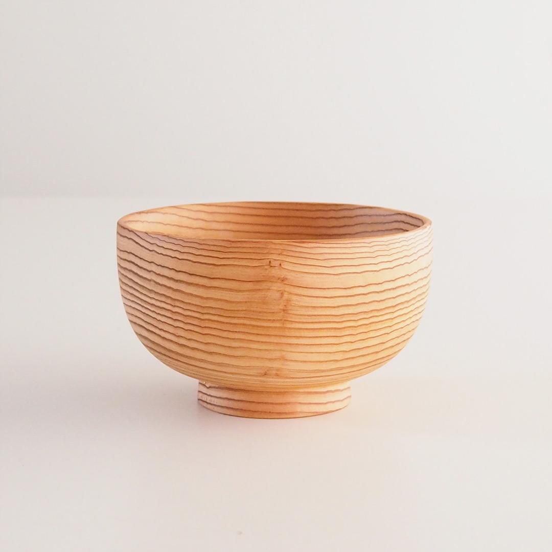糸島杉の味噌汁椀/大