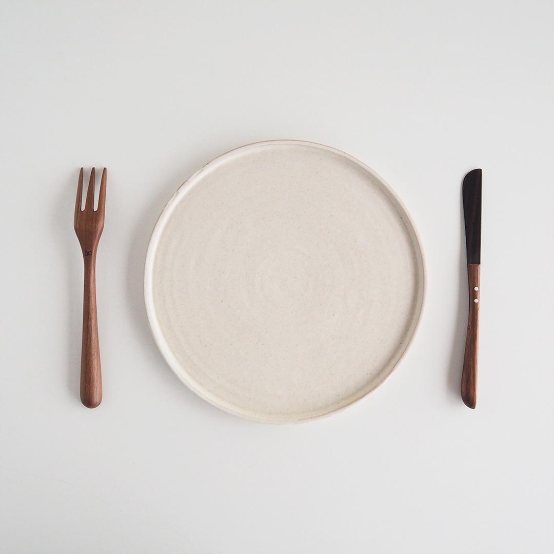 パンケーキナイフ/ウォルナット×縞黒檀