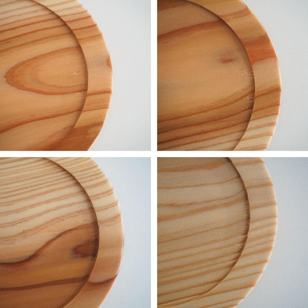 重ねられる木蓋つきの器