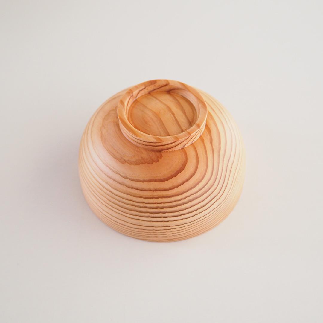 糸島杉の味噌汁椀/小
