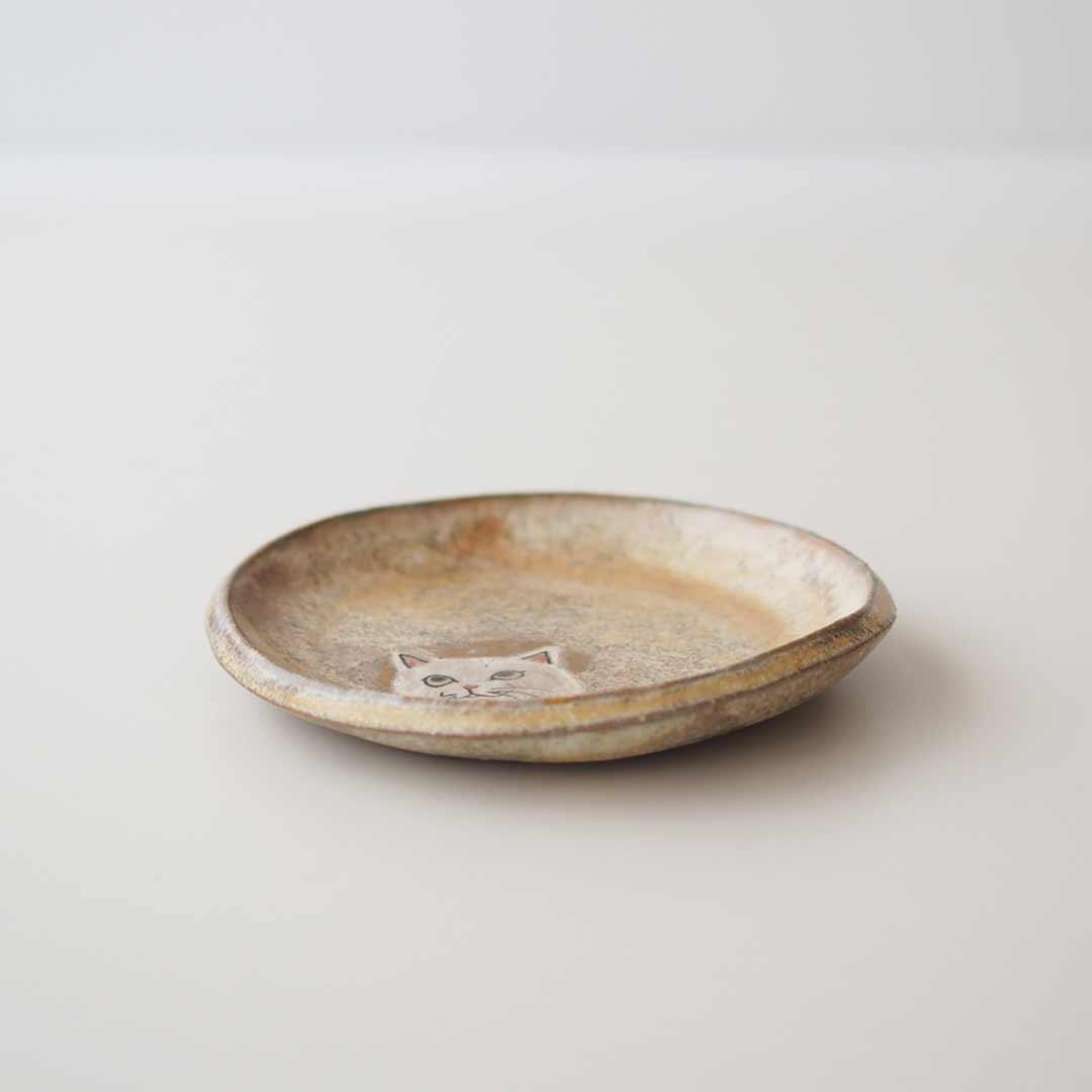 ねこ丸小皿12cm