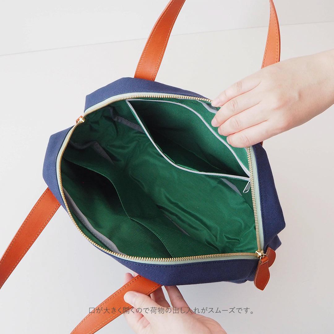 Angolo/八角形ボストンバッグM(カラーオーダー)/【受注生産】