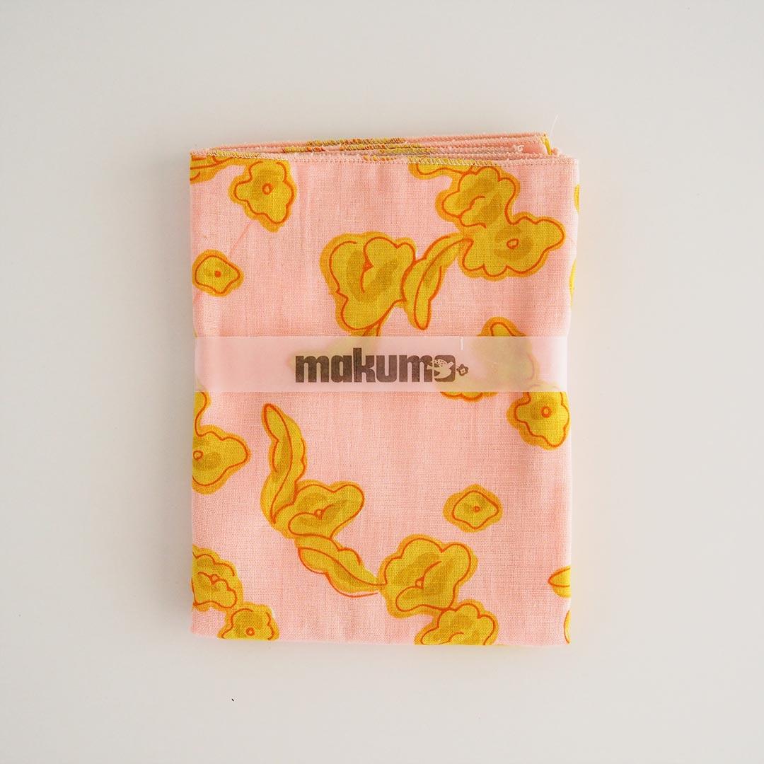 手ぬぐいタオル/りんごの花/ピンク