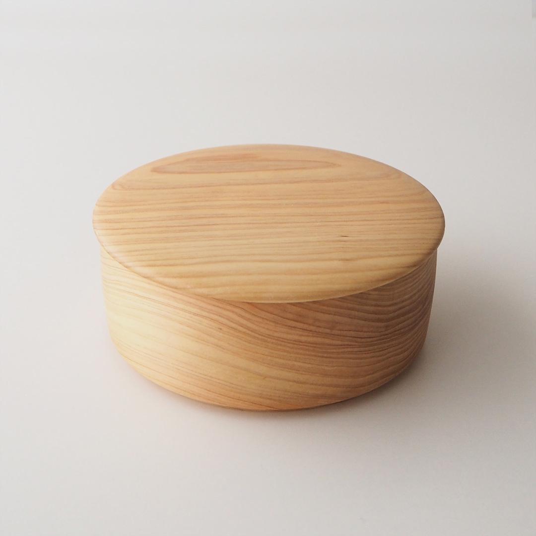 糸島ひのきの丸い弁当箱/1段