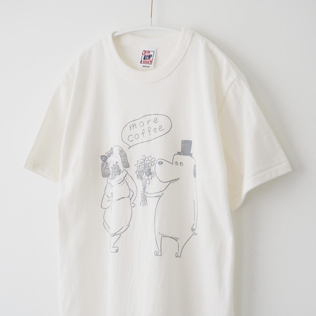 Tシャツ/FLOWER MORE COFFEE/ナチュラルホワイト