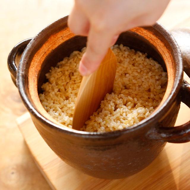 耐熱土鍋ご飯焚き2合/伊羅保-濃