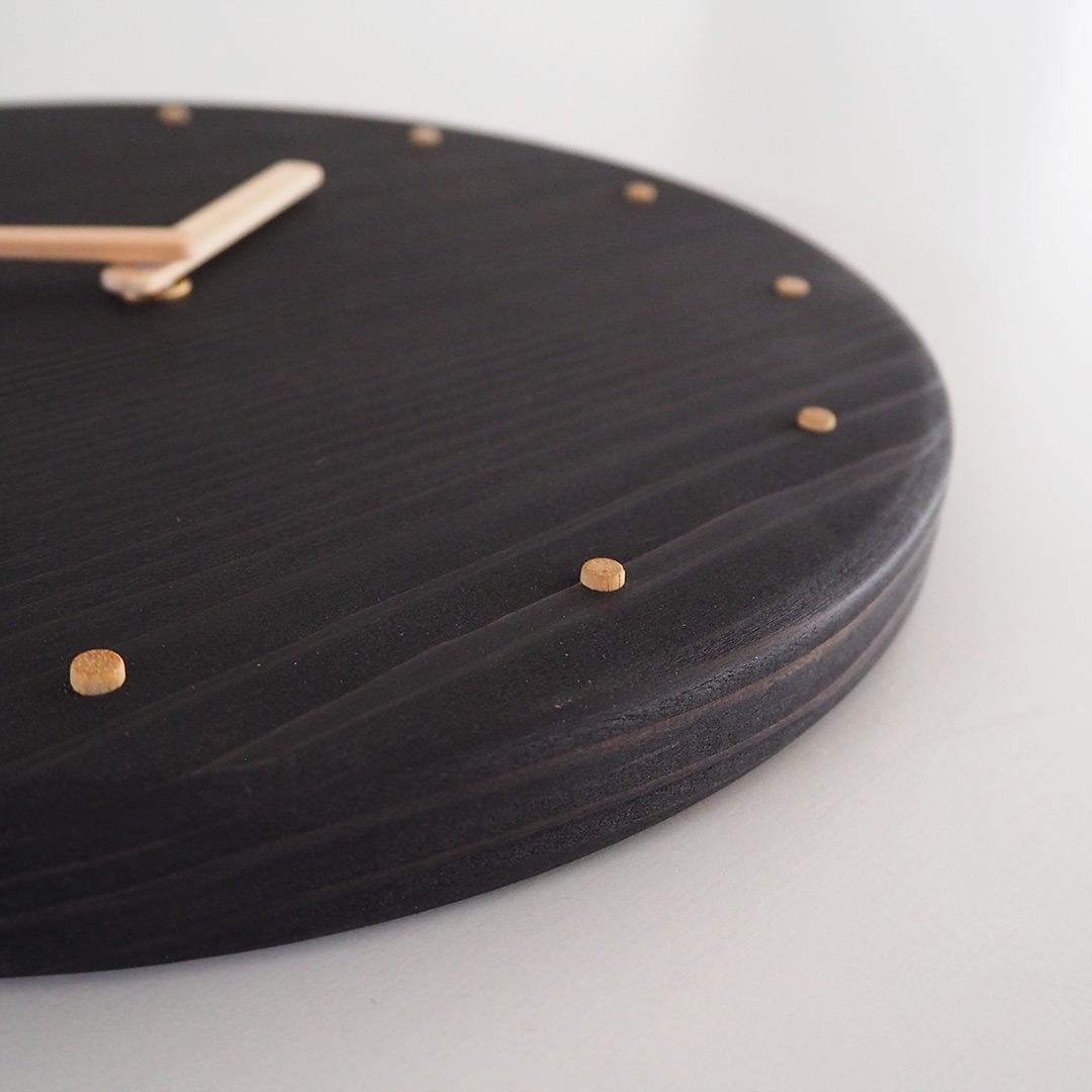 杉の丸時計/墨