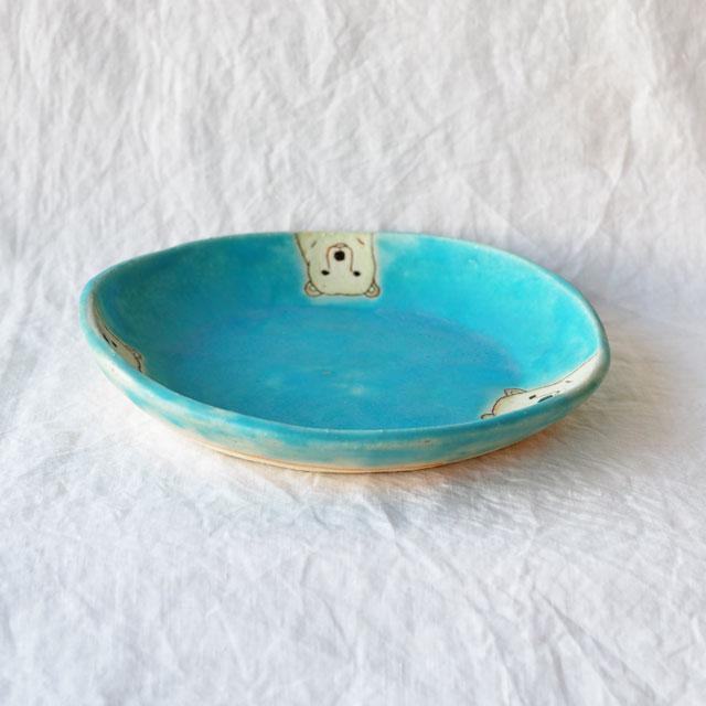 しろくま/タタラ/丸皿22cm