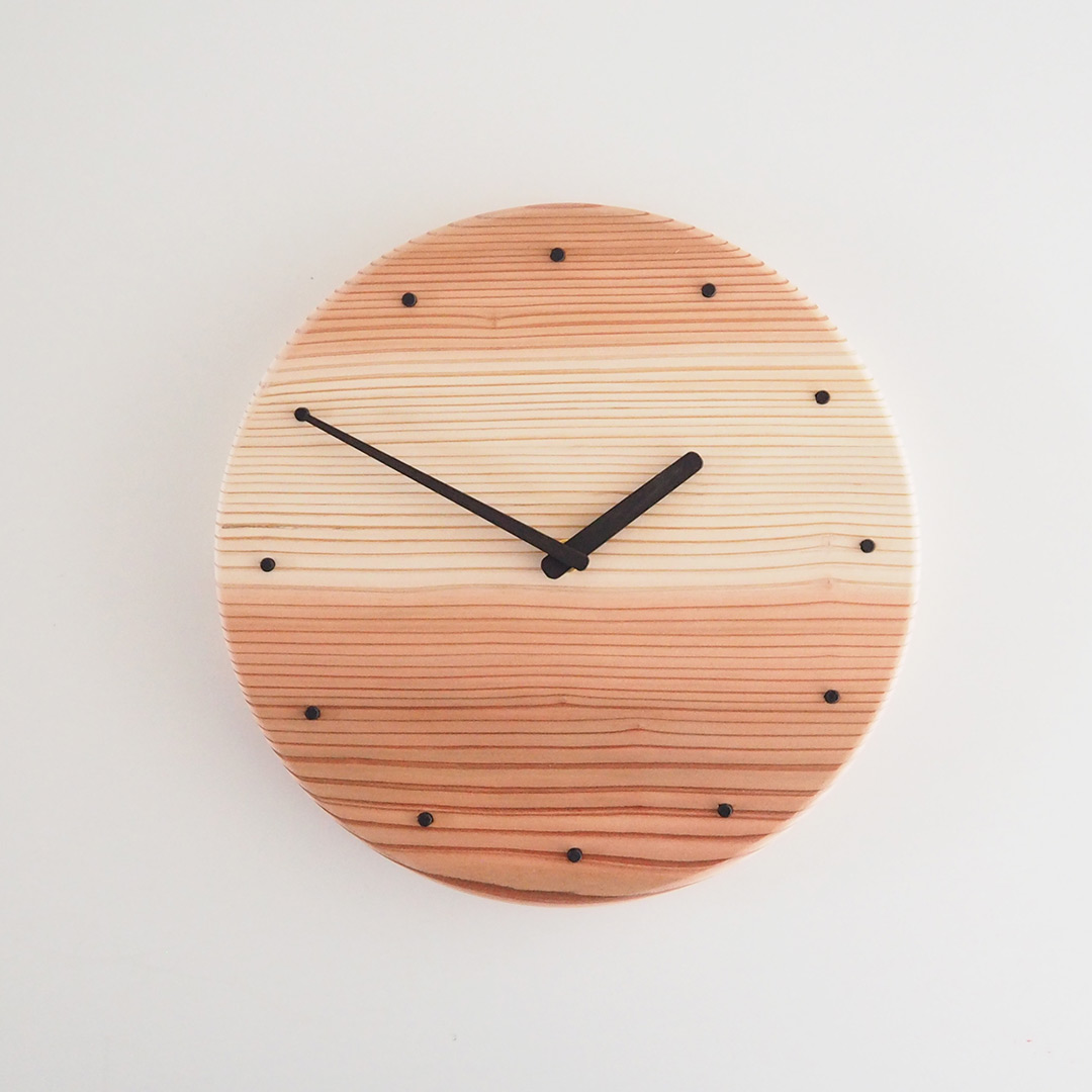 杉の丸時計/クリア