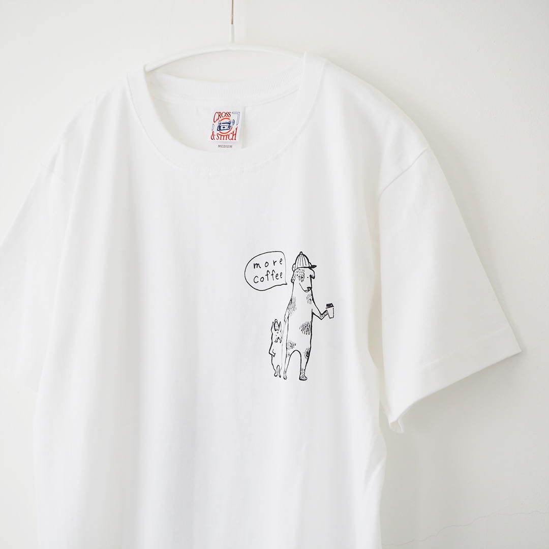 Tシャツ/COFFEE DOG/ホワイト