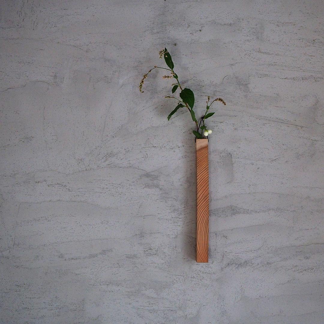 杉の一輪挿し/角【受注生産】