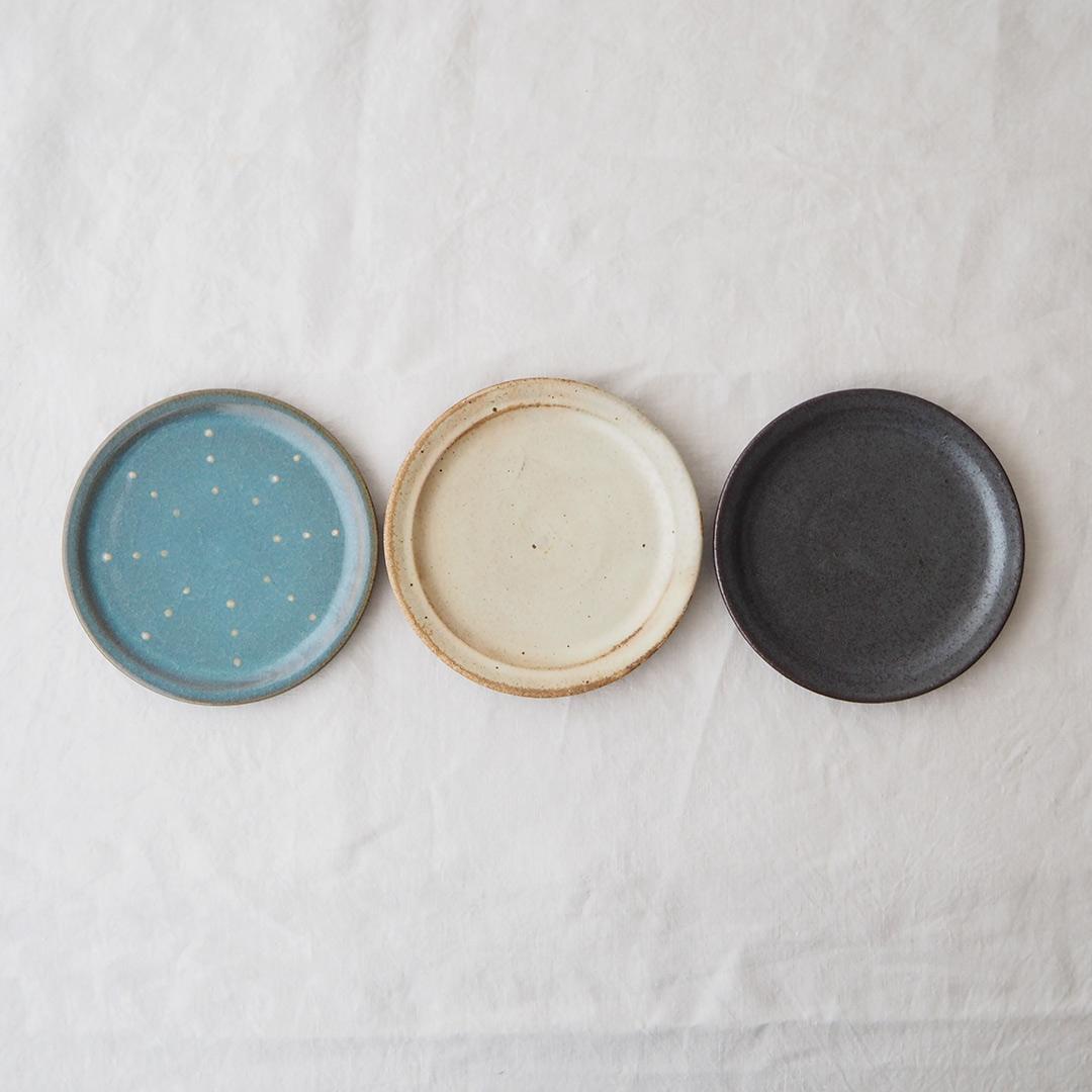 アイボリー釉/5寸プレート皿