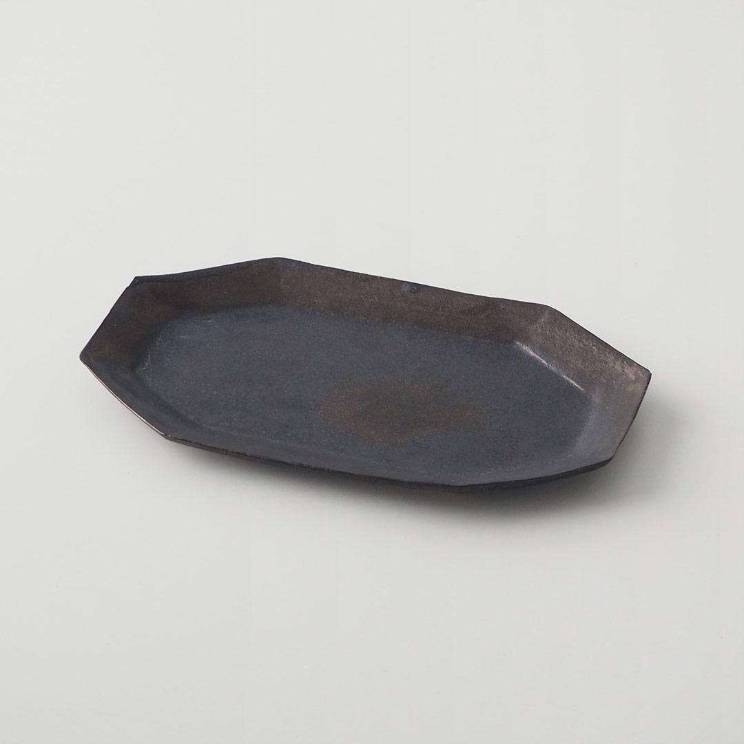 八角プレート/鉄黒