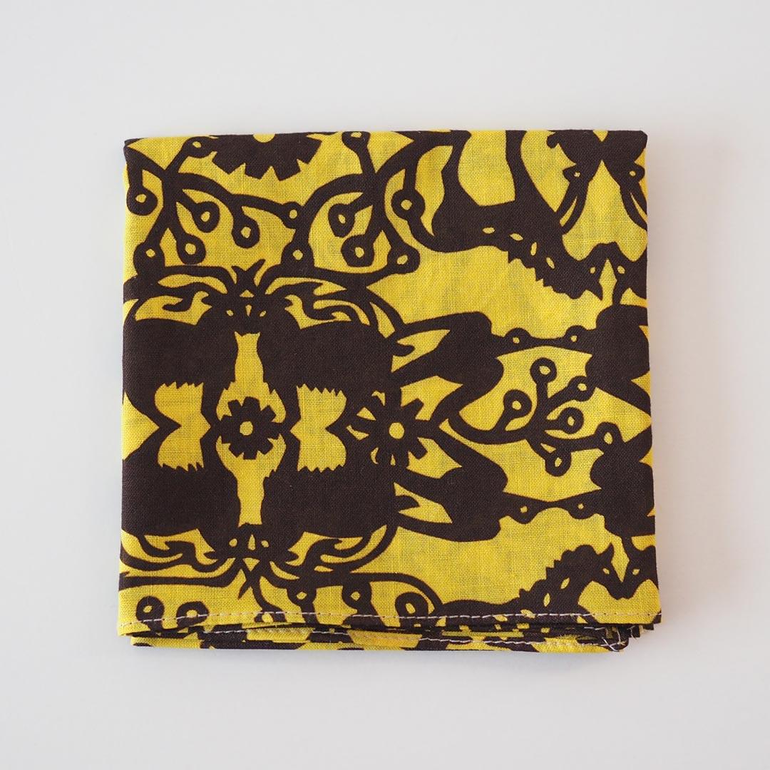 ハンカチ/万華鏡の森/黄色